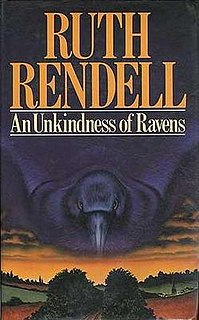 <i>An Unkindness of Ravens</i> novel by Ruth Rendell