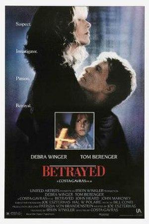 Betrayed (1988 film) - Image: Betrayed poster
