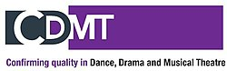 CDMT, Confirming quality in Dance, Drama & Musical Theatre (former CDET) logo, April 2018.jpg