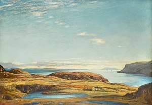 David Young Cameron - Sir David Young Cameron Firth of Lorne, November (South of Kerrera), oil on canvas.