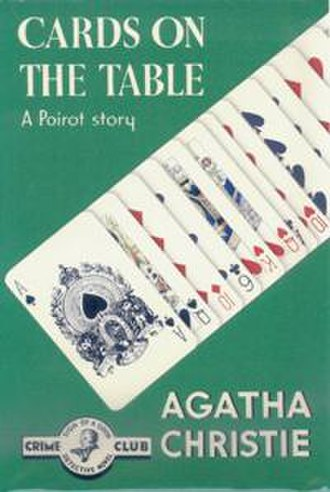 Cards on the Table - Dust-jacket illustration of the first UK edition
