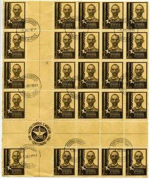 Centro de hoja - A 25 stamp centro de hoja (center of the sheet) from Cuba, 1941.
