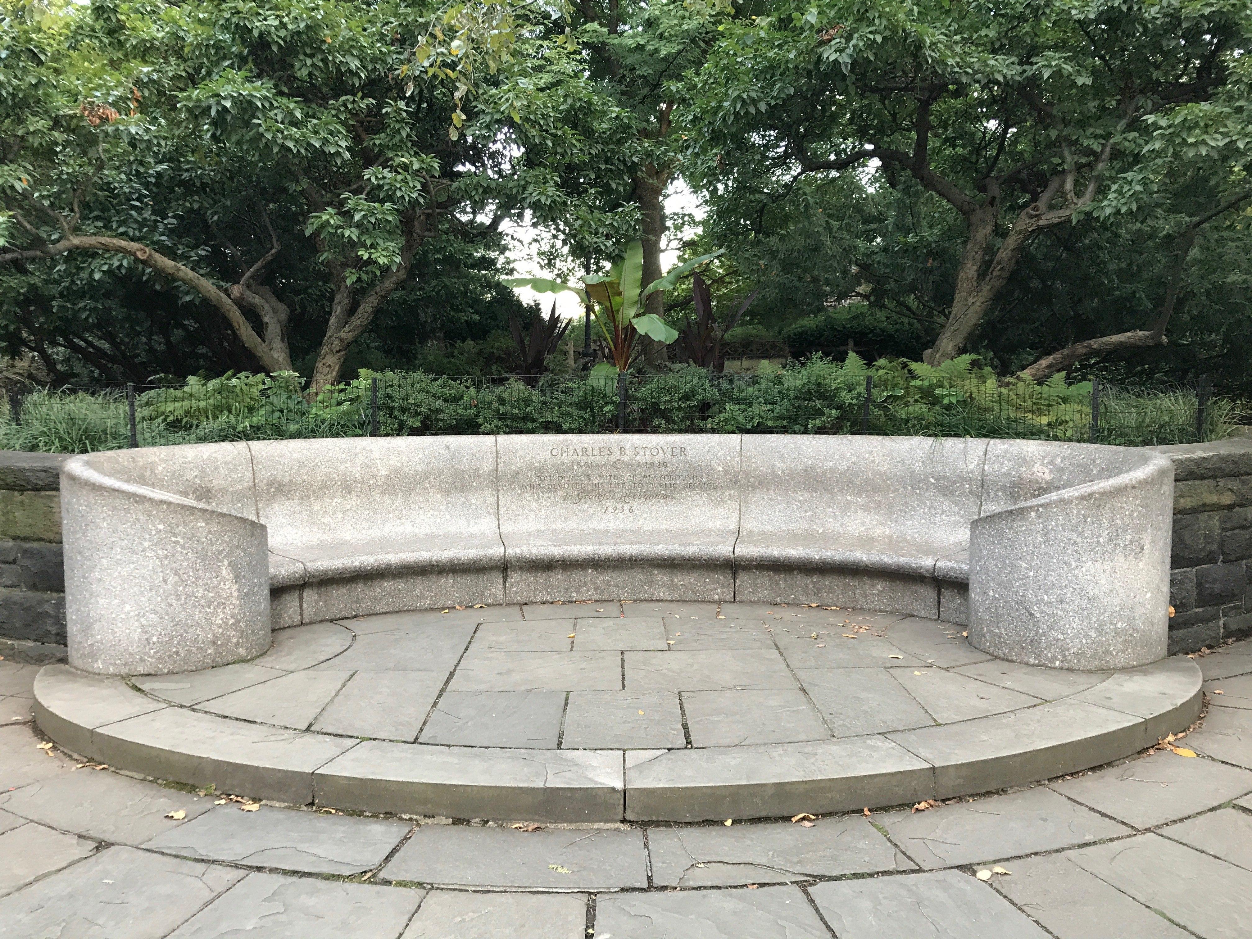 File Charles B Stover Memorial Bench Jpg Wikipedia