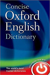 <i>Concise Oxford English Dictionary</i> book