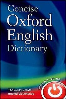 <i>Concise Oxford English Dictionary</i>