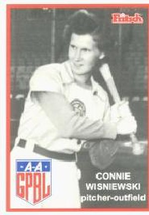 Connie Wisniewski - Image: Connie Wisniewski (AAGPBL card)