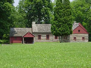 Daniel Boone Homestead - The Wayside Lodge at Daniel Boone Homestead. Built in 1940.