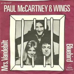 Bluebird (Paul McCartney and Wings song) - Image: Danish Mrs Vandebilt Bluebird cover