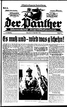a black and white image of the front page of a German language newspaper