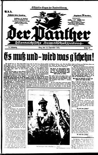 August Meyszner - Image: Der Panther Pfrimer Putsch
