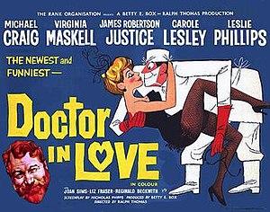 Doctor in Love - Original British 1960 quad film poster