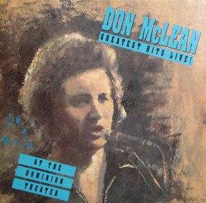 Dominion (Don McLean album) - Image: Don Mc Lean Dominion Live
