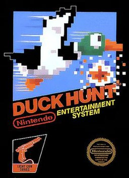 North American NES box art of Duck Hunt.