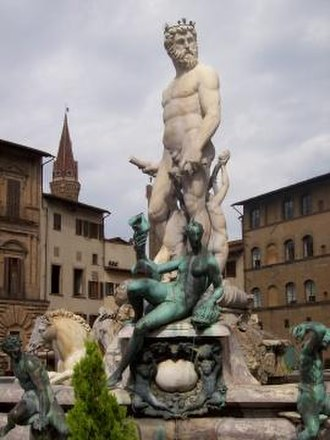 Fountain of Neptune, Florence - Image: Fountain Of Neptune At The Piazza Della Signoria
