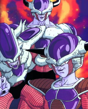 Frieza - Frieza's first three forms, from right to left.