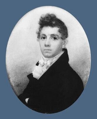 Ferdinando Fairfax - Fairfax's son, George William Fairfax, painted by Joseph Wood (1816)