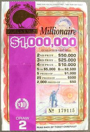 Golden Kiwi - $1,000,000 was the highest ever Golden Kiwi prize