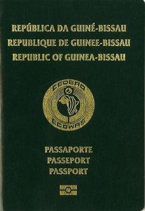 Guinea-Bissau passport - The front cover of a contemporary Guinea-Bissau passport