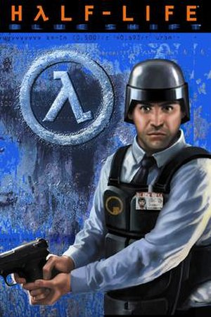 Half-Life: Blue Shift - The cover art for Blue Shift, depicting the game's protagonist, Barney Calhoun