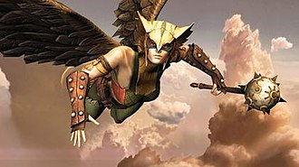 Shiera Sanders Hall - Hawkgirl in a promotional image for Injustice: Gods Among Us.