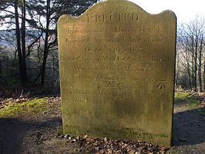 Hindhead - Stone commemorating the murder of an unknown sailor on Hindhead Common