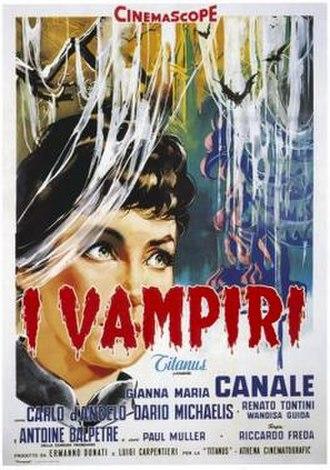 I Vampiri - Italian film poster
