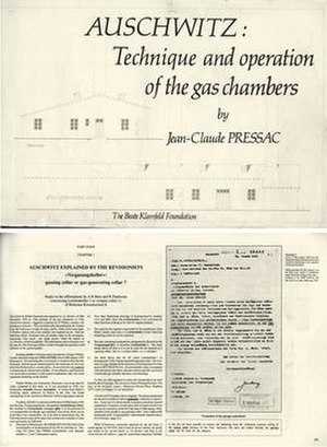 Jean-Claude Pressac - Image: JC Pressac Auschwitz Technique and operation of the gas chambers (1989)