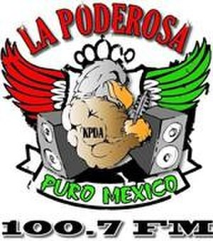 KPDA (FM) - Image: KPDA La Poderosa 100.7 logo