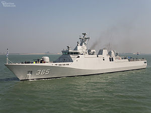 KRI Diponegoro on sea trials in the Netherlands in April 2007. Photo courtesy of Mr Wim Kosten,maritimephoto.com