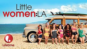 Little Women: LA - Cast (l–r): Briana, Jasmine, Christy, Brittney, Tonya, Elena, Terra