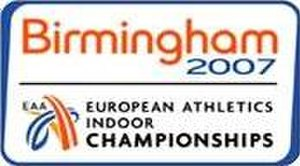 2007 European Athletics Indoor Championships - Image: Logo Birmingham 2007