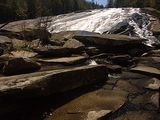Bridal Veil Falls (DuPont State Forest) - Bottom portion of Bridal Veil Falls