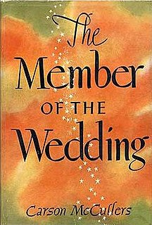 <i>The Member of the Wedding</i> novel by Carson McCullers