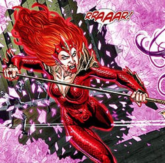 Mera (comics) - Red Lantern Mera attacking Wonder Woman. Art by Nicola Scott.