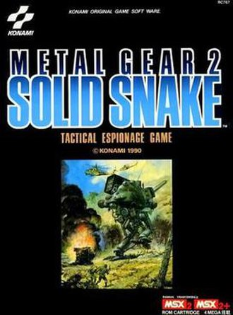 Metal Gear 2: Solid Snake - Packaging illustration by Yoshiyuki Takani