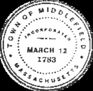 Middlefield, Massachusetts - Image: Middlefield MA seal