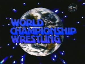 WCW Saturday Night - World Championship Wrestling logo, as seen from the opening sequence used from 1982 to 1987.