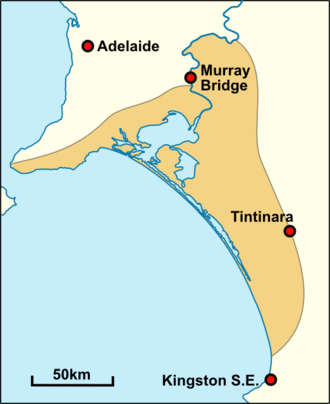 Ngarrindjeri - Approximate historical extent of Ngarrindjeri territory.