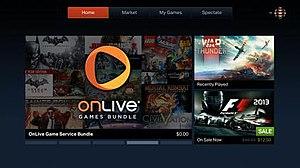 OnLive - OnLive main menu