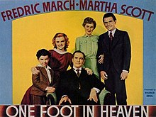 Original movie poster for the film One Foot in Heaven.jpg