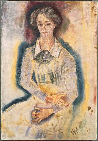 Oskar Kokoschka - Portrait of Lotte Franzos 1909, (oil on canvas, 114.9 cm × 79.4 cm), The Phillips Collection, Washington, DC