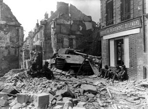 Argentan - Heavy fighting in August 1944, following the Allied invasion of Normandy, left the town in ruins.