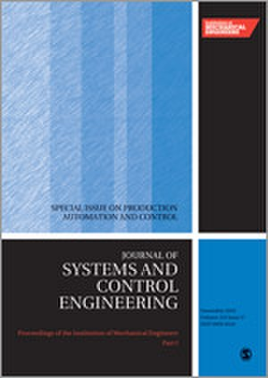 Proceedings of the Institution of Mechanical Engineers, Part I: Journal of Systems and Control Engineering - Image: Proceedings of the I Mech E I journal cover