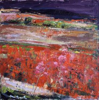 Anne Redpath - The poppy Field, circa 1963, Tate Gallery. A typical example of Redpath's later work featuring flowers.