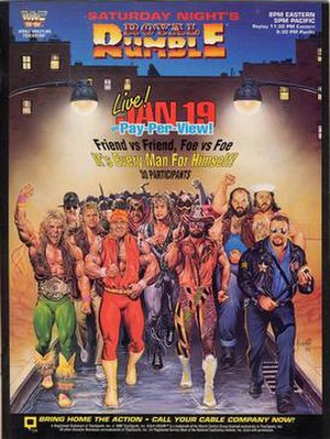 Royal Rumble (1991) - Promotional poster