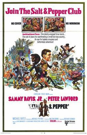 Salt and Pepper (film) - Original film poster by Jack Davis
