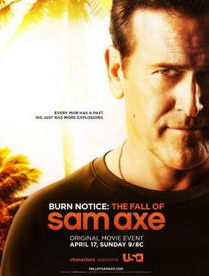 Burn Notice: The Fall of Sam Axe - Promotional poster