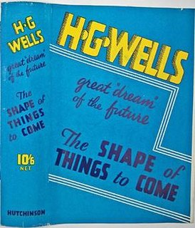 <i>The Shape of Things to Come</i> science fiction novel by H. G. Wells
