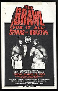 Michael Spinks vs. Dwight Muhammad Qawi Boxing competition