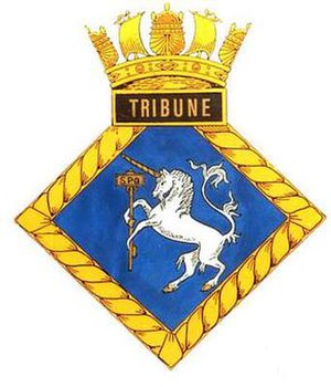 HMS Tribune (N76) - Image: TRIBUNE badge 1
